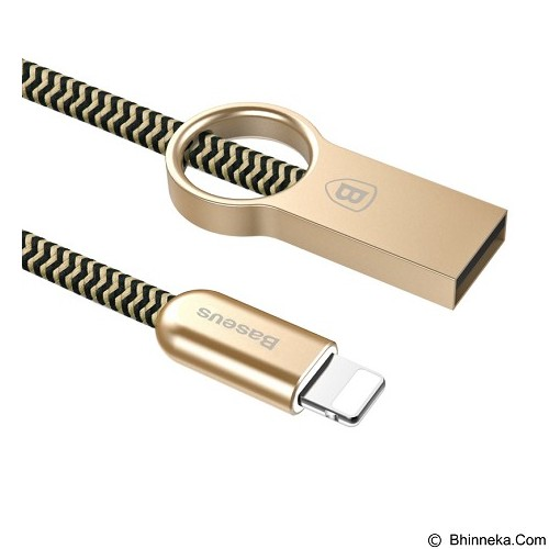 BASEUS Ring Lightning Cable - Champagne Gold + Yellow (Merchant) - Cable / Connector Usb