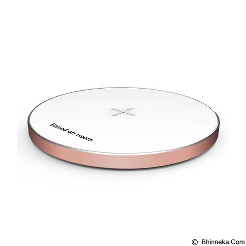 BASEUS Round Shape Wireless Charging Pad - Rose Gold (Merchant) - Charger Handphone