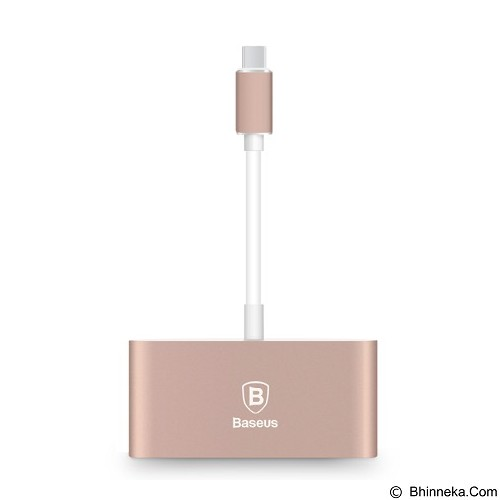BASEUS Sharp Series type-c to type-c + 3 USB HUB Adapter - Rose Gold (Merchant) - Cable / Connector Usb