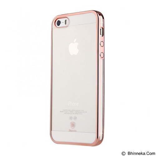 BASEUS Shining Case for Apple iPhone 5/5S/5SE - Rose Gold - Casing Handphone / Case