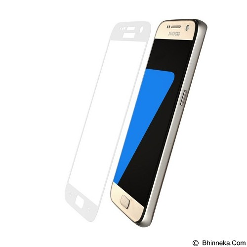 BASEUS Silk-screen 3D Arc Protective Film 0.3mm for Samsung Galaxy S7 - White - Screen Protector Handphone