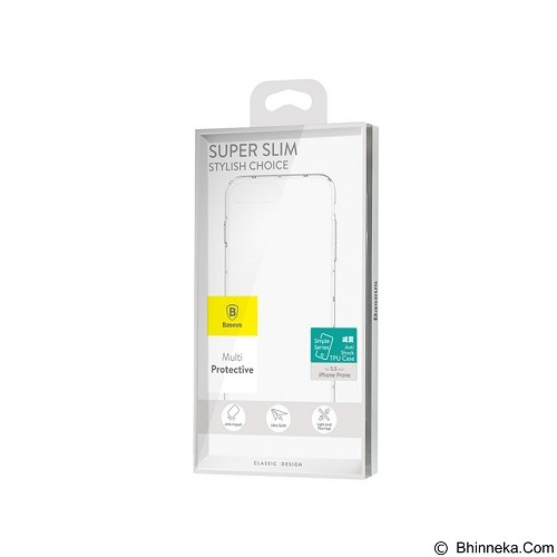 BASEUS Simple Case Anti-shock TPU Case for Apple iPhone 7 Plus - Transparant (Merchant) - Casing Handphone / Case