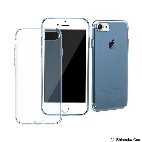 BASEUS Simple Series Case With Pluggy for Apple iPhone 7 - Transparent Blue (Merchant) - Casing Handphone / Case