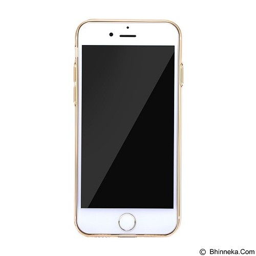 BASEUS Simple Series Case With Pluggy for Apple iPhone 7 - Transparent Gold (Merchant) - Casing Handphone / Case