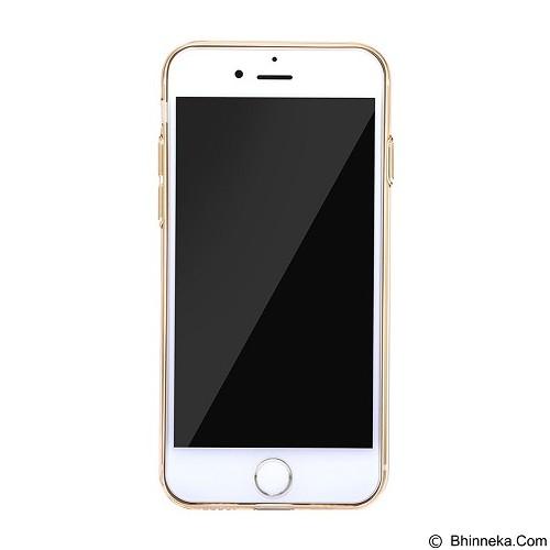 BASEUS Simple Series Case With Pluggy for Apple iPhone 7 Plus - Transparent Gold (Merchant) - Casing Handphone / Case