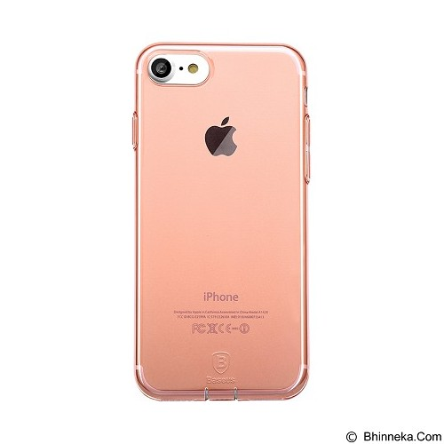 BASEUS Simple Series Case With Pluggy for Apple iPhone 7 - Transparent Rose Gold (Merchant) - Casing Handphone / Case