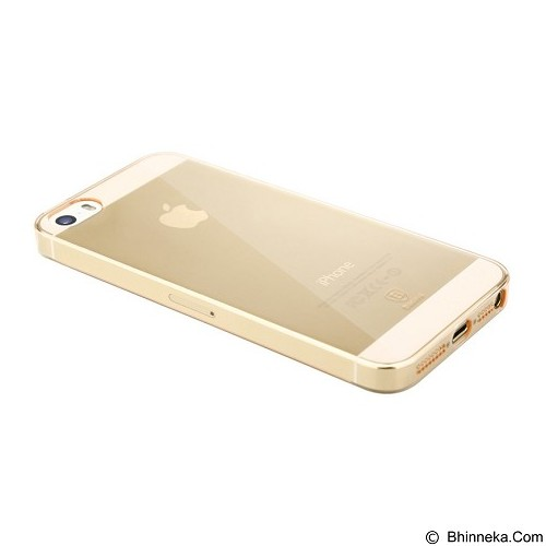BASEUS Sky Case for Apple iPhone 5/5s/SE - Transparant Gold - Casing Handphone / Case