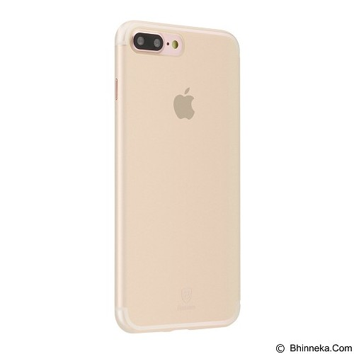 BASEUS Slim Case For Apple iPhone 7 Plus - Transparent Gold (Merchant) - Casing Handphone / Case