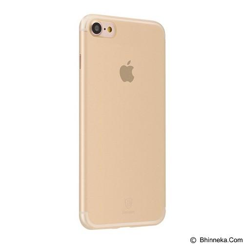 BASEUS Slim Case For Apple iPhone 7 - Transparent Gold (Merchant) - Casing Handphone / Case