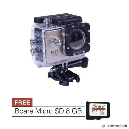 BCARE B-Cam X-1 + Micro SD 8 GB - Gold - Camcorder / Handycam Flash Memory