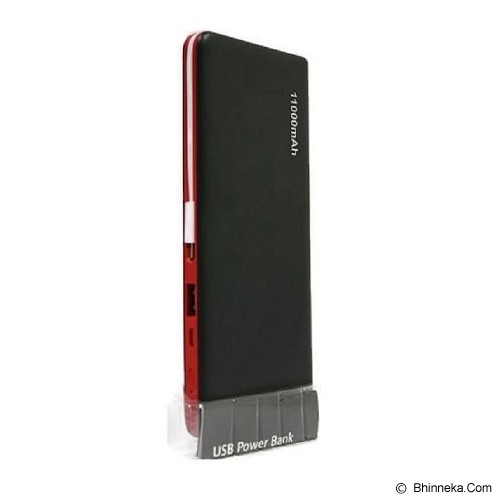 BCARE Powerbank 11000mAh - Black Red - Portable Charger / Power Bank
