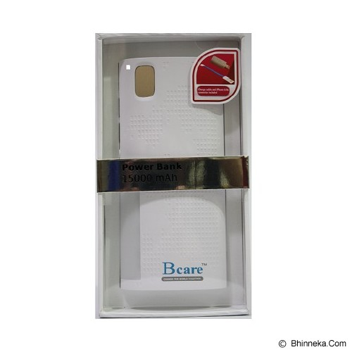 BCARE Powerbank 15000mAh - White - Portable Charger / Power Bank