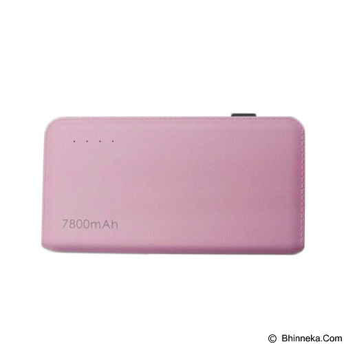 BCARE Slim Powerbank Leather Texture 7800mAh - Pink (Merchant) - Portable Charger / Power Bank
