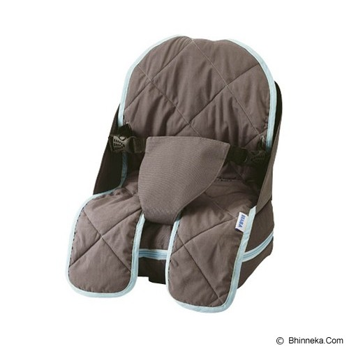 BEABA Travelling Booster Seat [3 38434 940055 2] - Dark Grey Turquese - Baby Highchair and Booster Seat