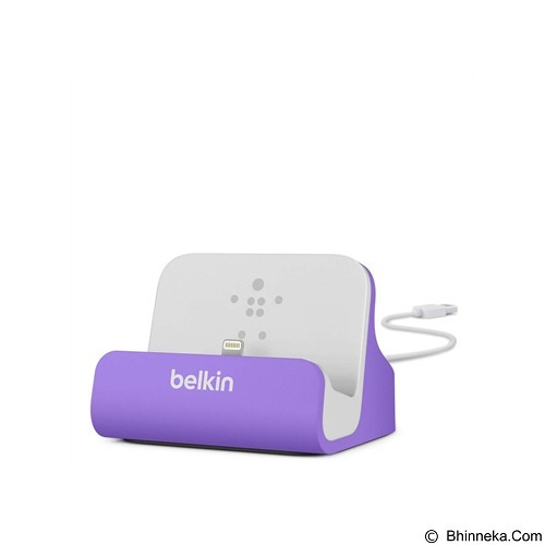 BELKIN Lightning ChargeSync Dock [F8J045BTPUR] - Purple (Merchant) - Gadget Docking