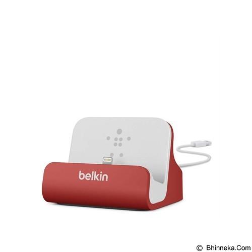 BELKIN Lightning ChargeSync Dock [F8J045BTRED] - Red (Merchant) - Gadget Docking