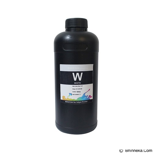 BENGKELPRINT Tinta LED UV White Bold INK 1 Liter - Tinta Printer Refill