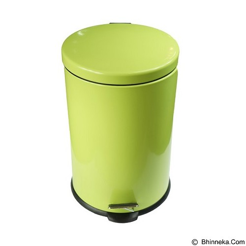 BEST PONGS Round Shape Step Bin 20L - Green - Tong Sampah Besar