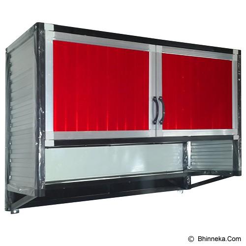 Jual bina karya kitchen set full aluminium gantung rak for Dapur set aluminium