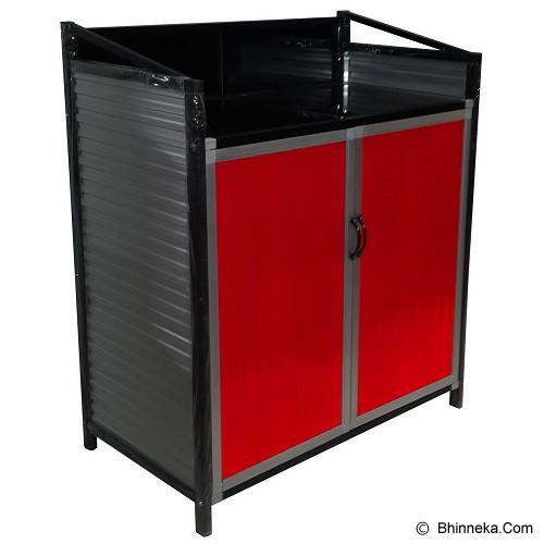 BINA KARYA Kitchen Set Full Aluminium Meja Kompor - Rak Piring