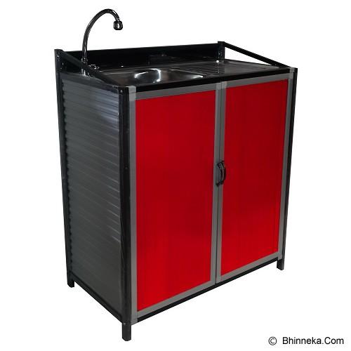 Jual bina karya kitchen set full aluminium meja cuci for Jual kitchen set aluminium