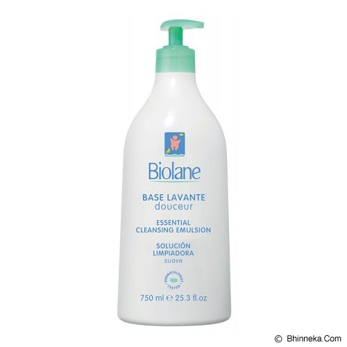 BIOLANE Essential Cleansing Emulsion 750ml [BS750EXP] - Sabun Mandi Bayi dan Anak