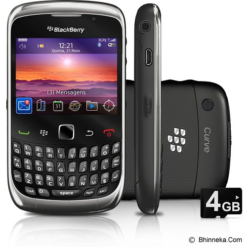 BLACKBERRY 9300 Curve - Black ( Merchant) - Smart Phone Blackberry