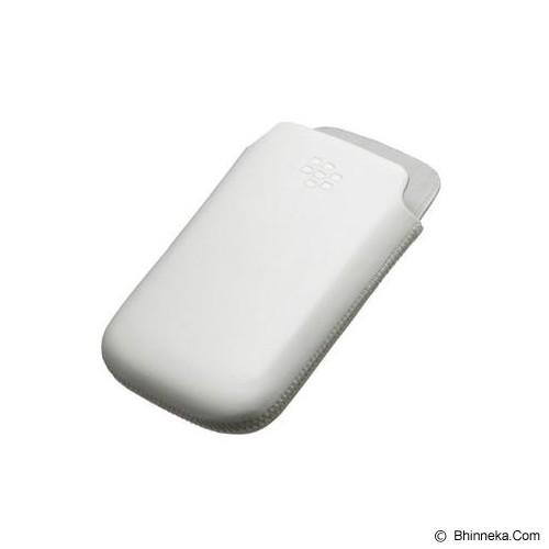 BLACKBERRY Leather Pocket - White [ABB-93/97/85.LPW] - Sarung Handphone / Pouch