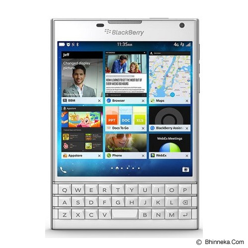BLACKBERRY Passport (Garansi Merchant) - White - Smart Phone Blackberry