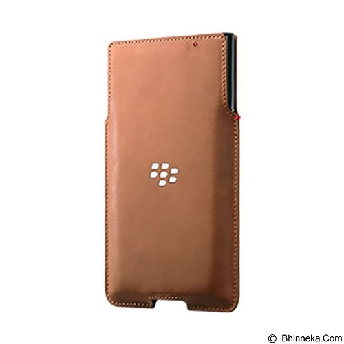 BLACKBERRY Priv Leather Pocket Case - Tan - Sarung Handphone / Pouch