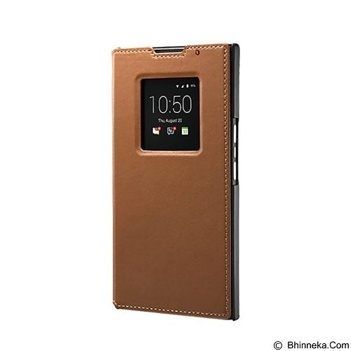 BLACKBERRY Priv Leather Smart Flip Case - Tan - Casing Handphone / Case