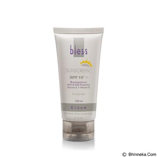 BLESS Sunscreen Cream SPF 19 [Merchant] - Tabir Surya / Body Sunblock