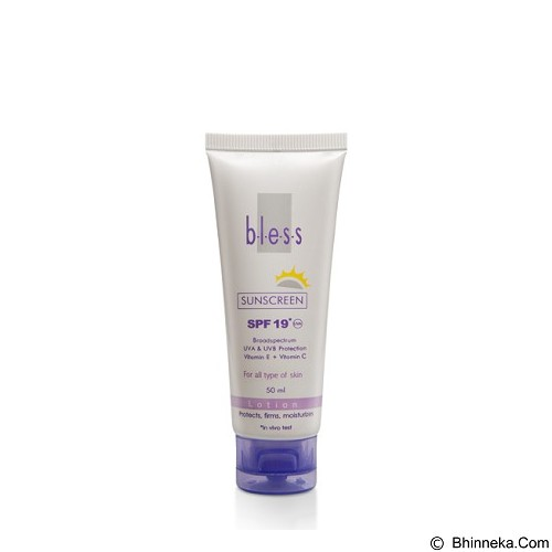 BLESS Sunscreen Lotion SPF 19 50 ml [Merchant] - Tabir Surya / Body Sunblock
