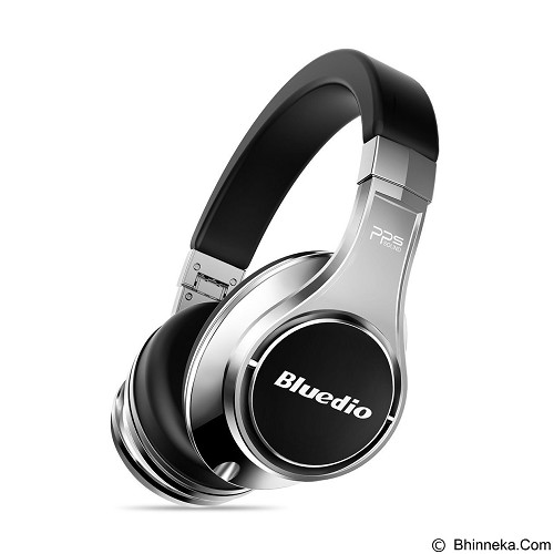 BLUEDIO Premium Headphone - Silver Black (Merchant) - Headphone Portable