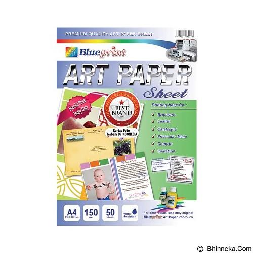 BLUEPRINT Art Paper Sheet 150 gsm A4 (Merchant) - Kertas HVS A4