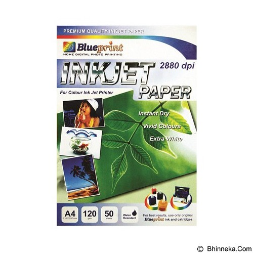 Jual blueprint inkjet paper glossy 120 gsm a4 murah bhinneka blueprint inkjet paper glossy 120 gsm a4 malvernweather Image collections