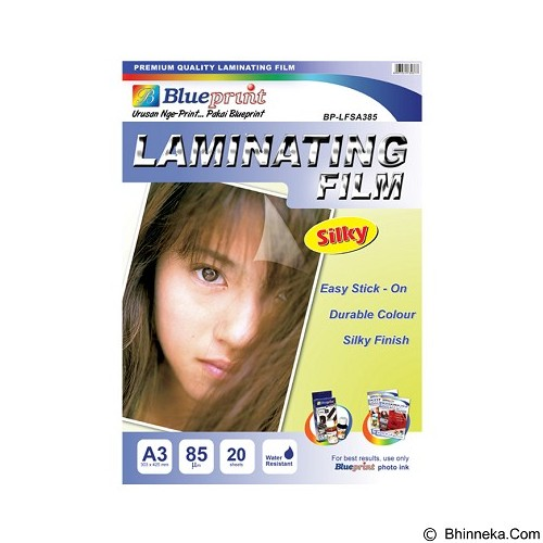 BLUEPRINT Laminating Silky Film A3 [BP-SFA385] (Merchant) - Kertas Foto / Photo Paper