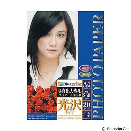 BLUEPRINT Photo Paper Premium Glossy 260 gsm A4 [BP-GPA4260] (Merchant) - Kertas Foto / Photo Paper