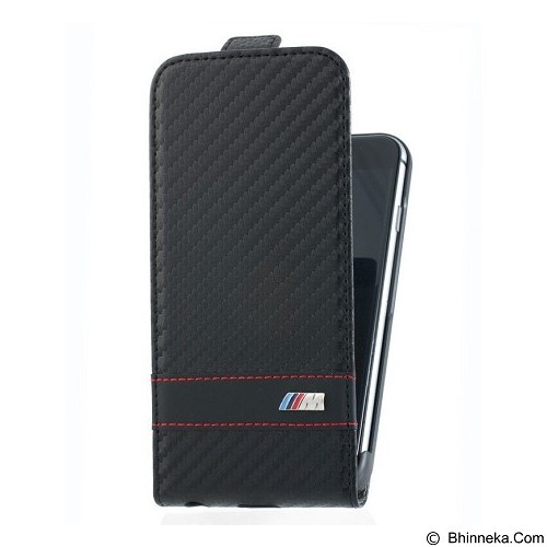 BMW M Carbon Flap Case for Apple iPhone 6 - Black (Merchant) - Casing Handphone / Case