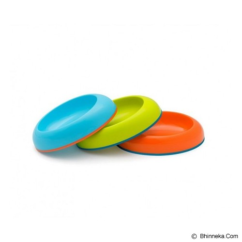 BOON Dish Edgeless Stay Put Bowl [DE-BGO] - Blue, Green, & Orange - Perlengkapan Makan dan Minum Bayi