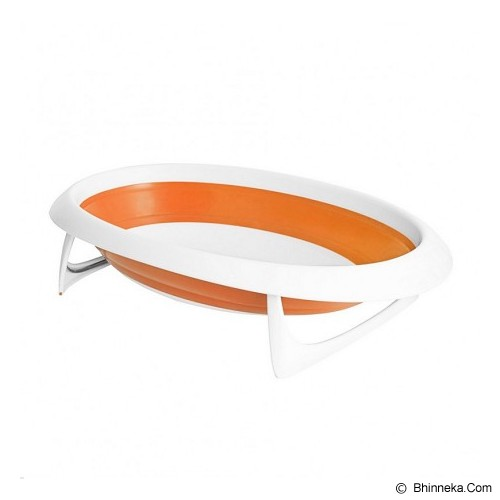 BOON Naked Collapsible Bathtub [NCBO614] - Orange - Baby Bath Tub and Accesories