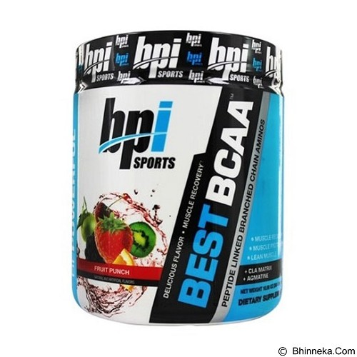 BPI Sports Best BCAA - 30 servings Fruit Punch (Merchant) - Suplement Penambah Daya Tahan Tubuh