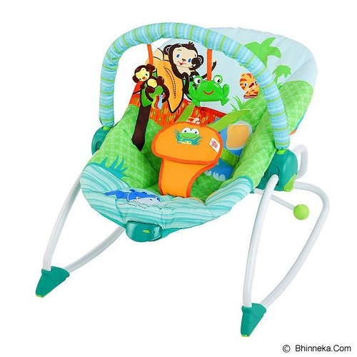 BRIGHT STARS Peek a Zoo Rocker [60127] - Baby Highchair and Booster Seat