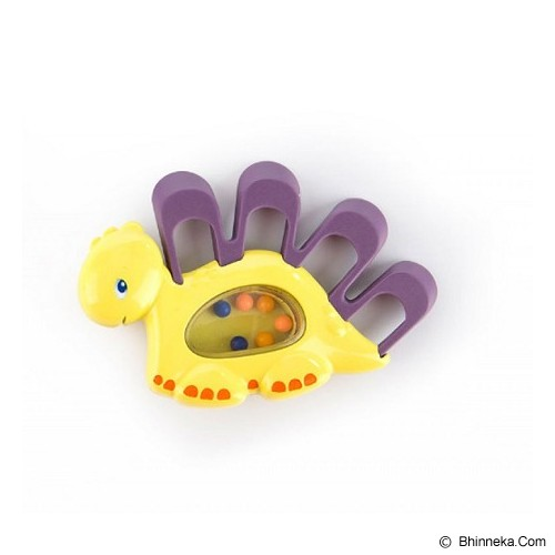 BRIGHT STARS Teethe A Saurus [52029-py] - Purple Yellow - Dot Bayi / Pacifier & Teethers