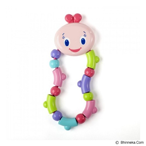 BRIGHT STARS Twist & Teethe [9059-p] - Pink - Dot Bayi / Pacifier & Teethers