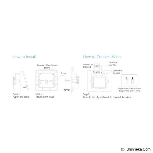 BROADLINK Saklar Elektronik 2 Switch [6924826700163] - Saklar in Bow