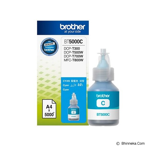 BROTHER Cyan Ink Cartridge [BT-5000C] - Tinta Printer Brother