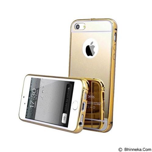 BUMPER CASE Mirror Sliding Case Apple iPhone 6 Plus - Gold (Merchant) - Casing Handphone / Case