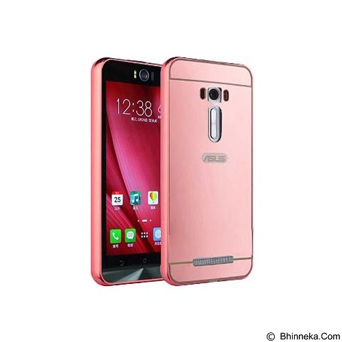 BUMPER CASE Mirror Sliding Case Asus Zenfone 2 Laser 5.5 Inch - Rose Gold (Merchant) - Casing Handphone / Case