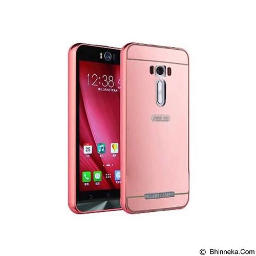 BUMPER CASE Mirror Sliding Case Asus Zenfone 2 Laser 5.5 Inch - Rose Gold (Merchant) - Casing Handphone / Case